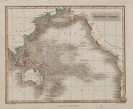 1823 Arrowsmith Map of Pacific Ocean