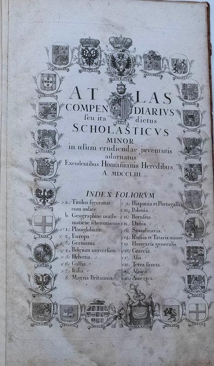 1753 Homann Rare Large World Atlas