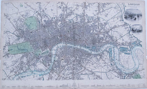 1836 SDUK Map of London