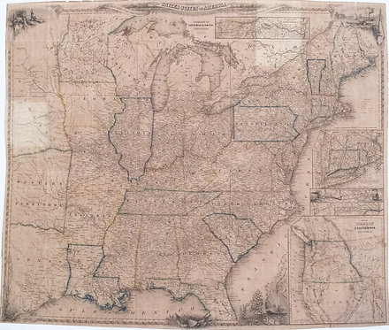 1848 Smith Pocket Map of United States