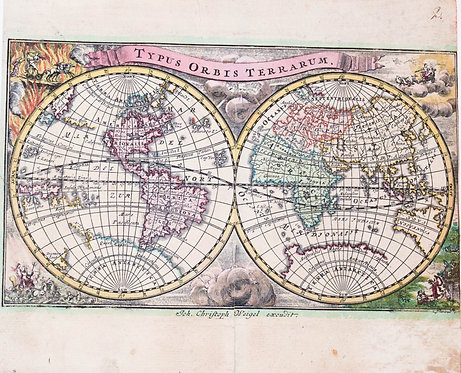 PLACE HOLDER Antique World Map - E pluribus U
