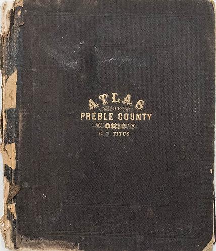 1871 Titus Preble County, Ohio Atlas