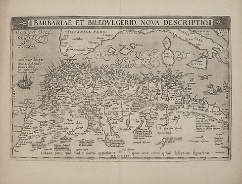 1579 Ortelius Map of Northern Africa