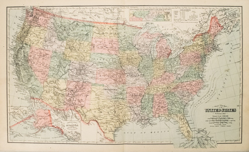 Antique And Rare Maps Of United States On World On Papercom - 1880-map-of-us