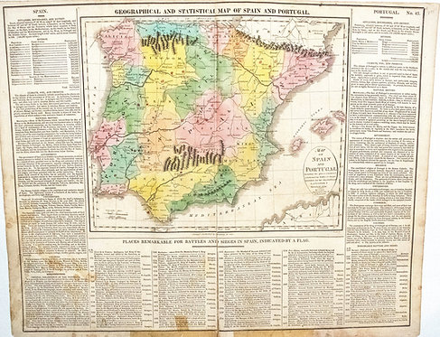 1820 Lavoisne Map of Spain & Portugal - US Edition