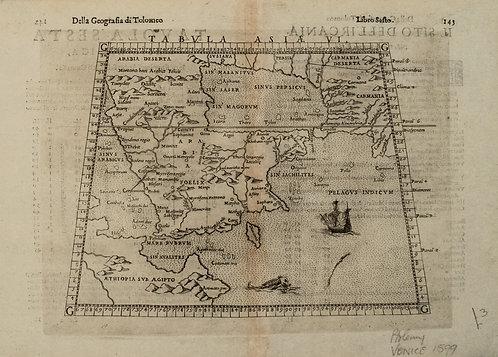 1598 Ruscelli Map of the Arabian Peninsula