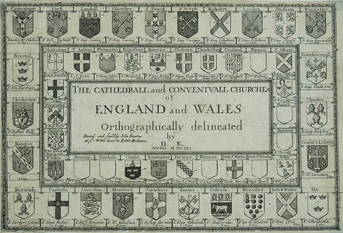 1656 King's Frontispiece of England and Wales Chur