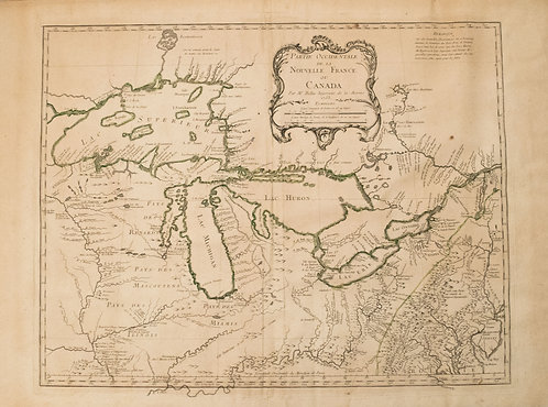 1755 Bellin Map of Great Lakes
