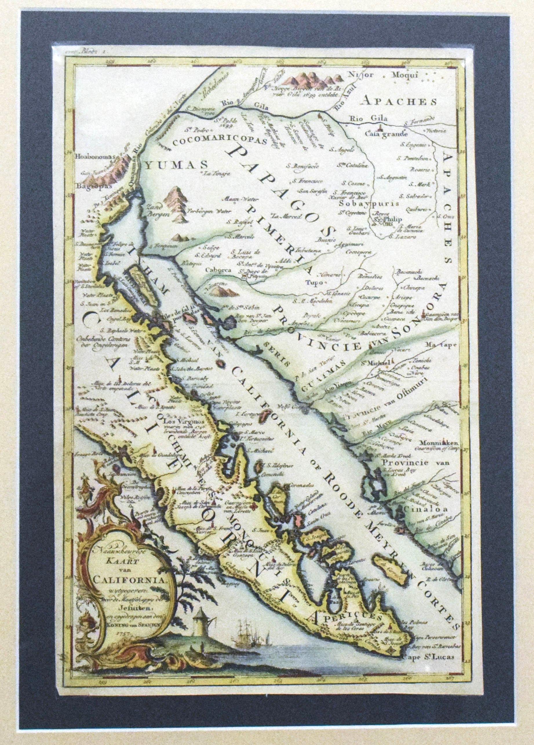 Missions In Southern California Map.1757 Venegas Impactful Map Of Baja California