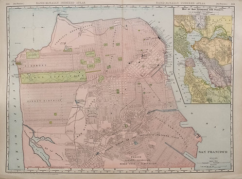 1911 Rand McNally Map of San Francisco