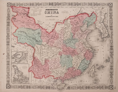 1863 Johnson Map of China
