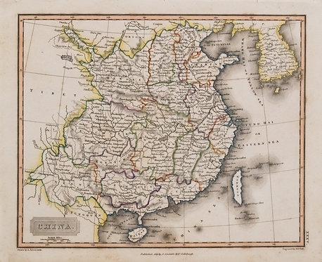 1823 Arrowsmith Map of China and Korea
