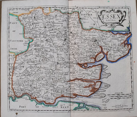 1722 Morden Map of Essex UK