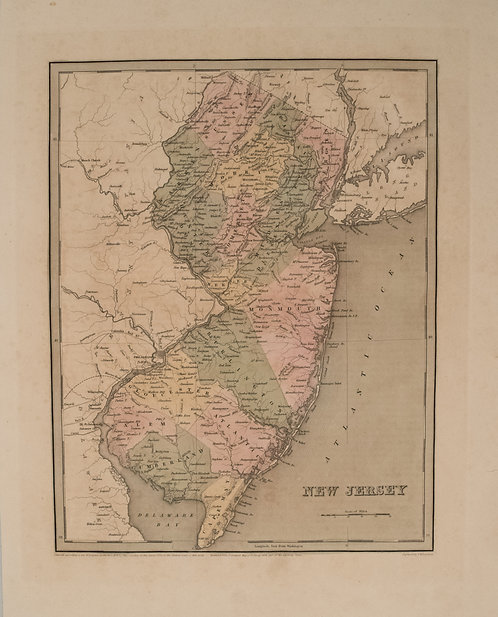 1837 Gordon Map of New Jersey