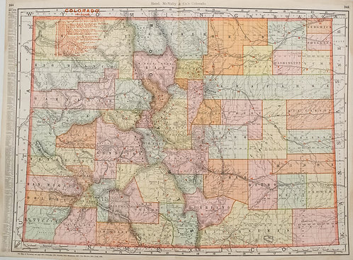 1903 Rand McNally Map of Colorado