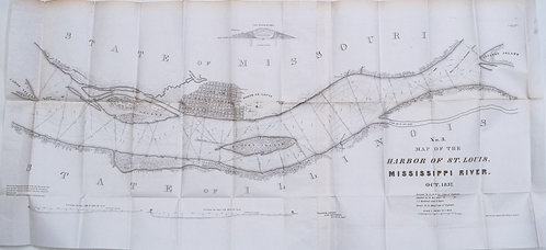 1837 Lee Map of St. Louis and Mississippi River