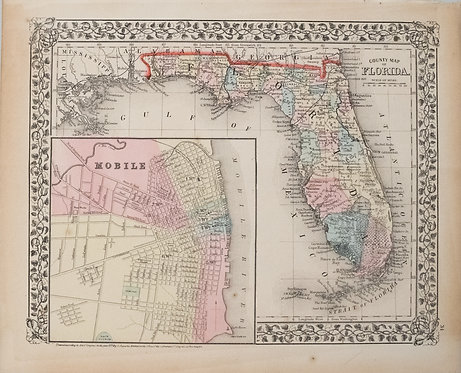 1874 Mitchell Map of Florida