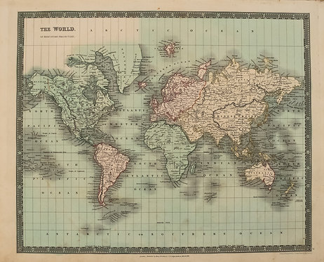 1831 Teesdale World Map