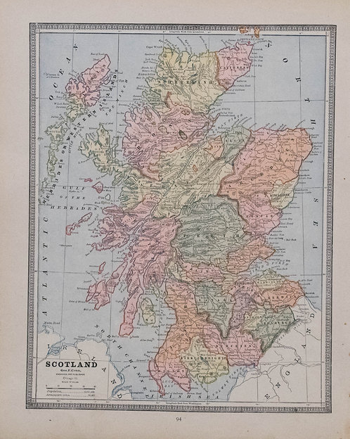 1884 Cram Maps of Scotland and Ireland