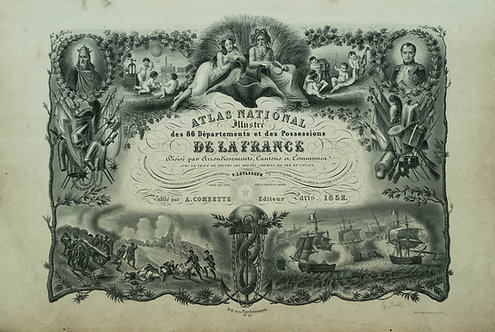 1852 Levasseur Atlas of France with America