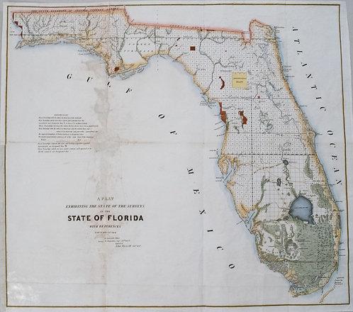1853 US Survey Map of Florida