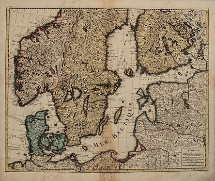 1792 Elwe Map of the Baltic Sea Region