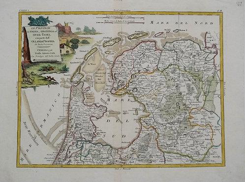 1778 Zatta Map of Northern Netherlands