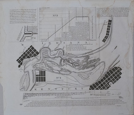 1834 Map of the Falls of Ohio at Louisville