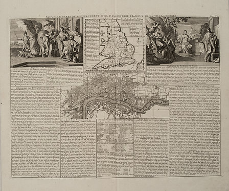 1708 Chatelain Map of England and London