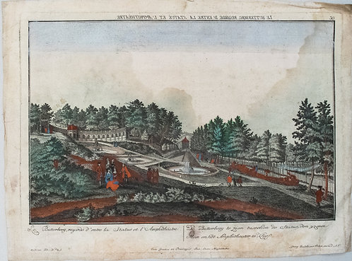 1750 Probst View of a Park by Butterberg Hill in Germany