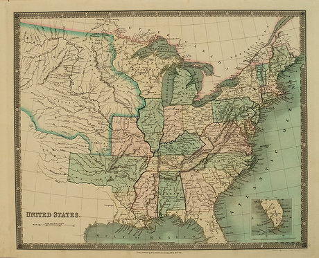 1831 Teesdale Map of United States