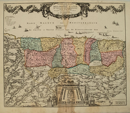 1792 Elwe Map of the Holy Land