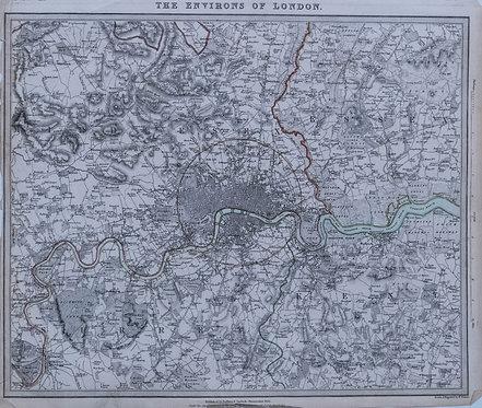1832 SDUK Map of Greater London