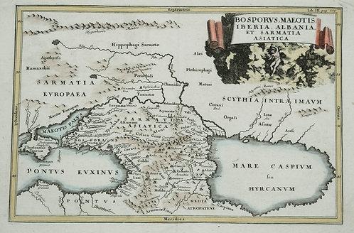 c. 1771 Map of Caucasus Region, Ukraine