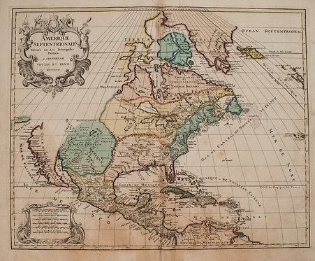 1792 Elwe Map of North America