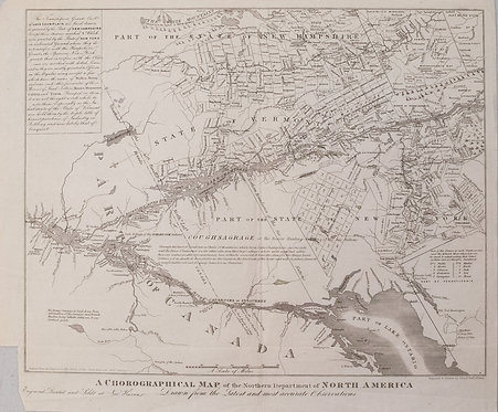 1851 Gavit/Romans Map First Showing Vermont, plus NY and NH