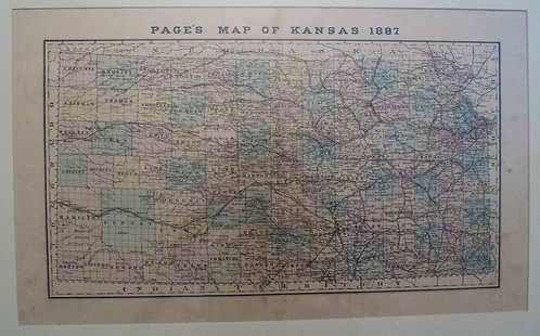 1887 Page & Co. Map of Kansas