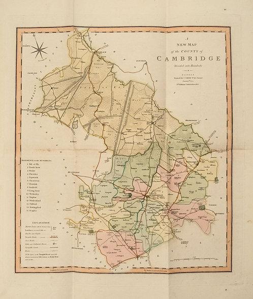 1808 Smith Map of Cambridge UK