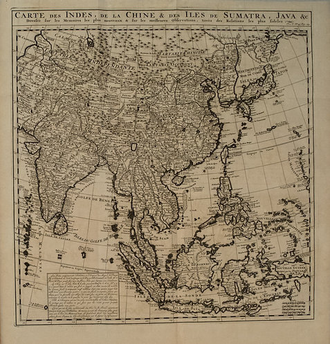 1720 Chatelain Map of Majority of Asia