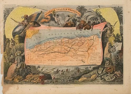 1850 Levasseur Map of Algeria