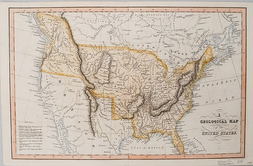 1832 Hinton Map of the United States