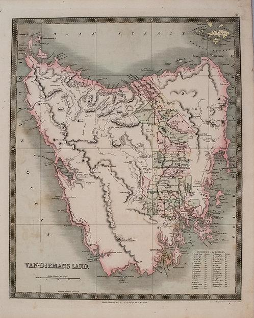1831 Teesdale Map of Tasmania