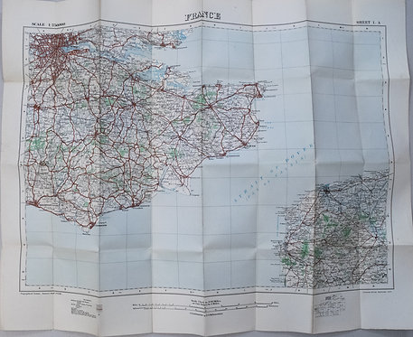 1917 British Military Map of Northwest Europe