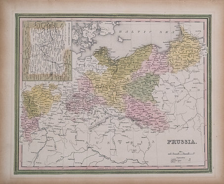 1836 Tanner Map of Prussia / Northern Germany