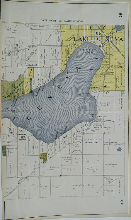 Middle and Eatern Part of the Plan of Lake Geneva