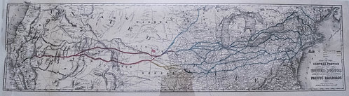1850s Map of Proposed Pacific Railroad Routes