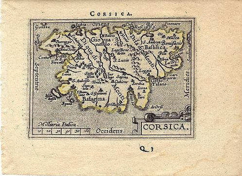 1602 Ortelius Map of Corsica