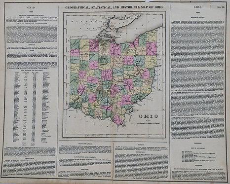 1827 c. Carey & Lea Ohio Map