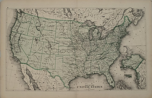 1874 Beers Map of the United States