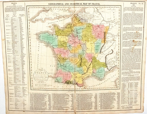 1820 Lavoisne Map of France - US Edition